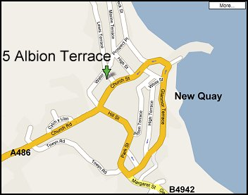 Location of 5 Albion Terrace, New Quay
