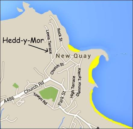 The location of Hedd-y-Mor