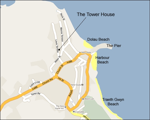 The location of Tower House